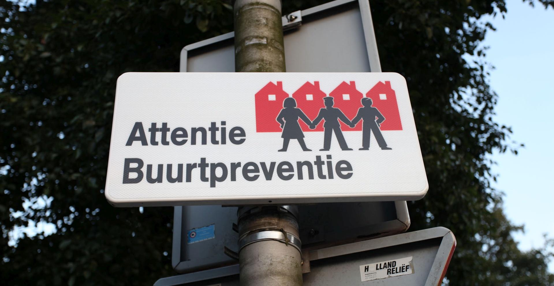 attentie buurtpreventie bord